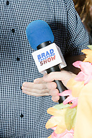Brad Chadford of the Brad Chadford Show interviews a participant in the Straight Pride Parade in Boston, Massachusetts, on Sat., August 31, 2019. The Brad Chadford Show is a YouTube show.