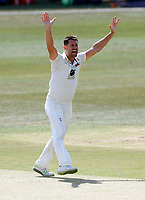 Tim Groenewald appeals for an LBW for Kent during Kent CCC vs Sussex CCC, Bob Willis Trophy Cricket at The Spitfire Ground on 8th August 2020