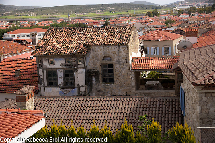 Old house in Alacati in need of renovation, aegean Turkey