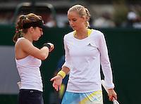 31-05-13, Tennis, France, Paris, Roland Garros, Arantxa Rus with her dubbles partner Simona Halep