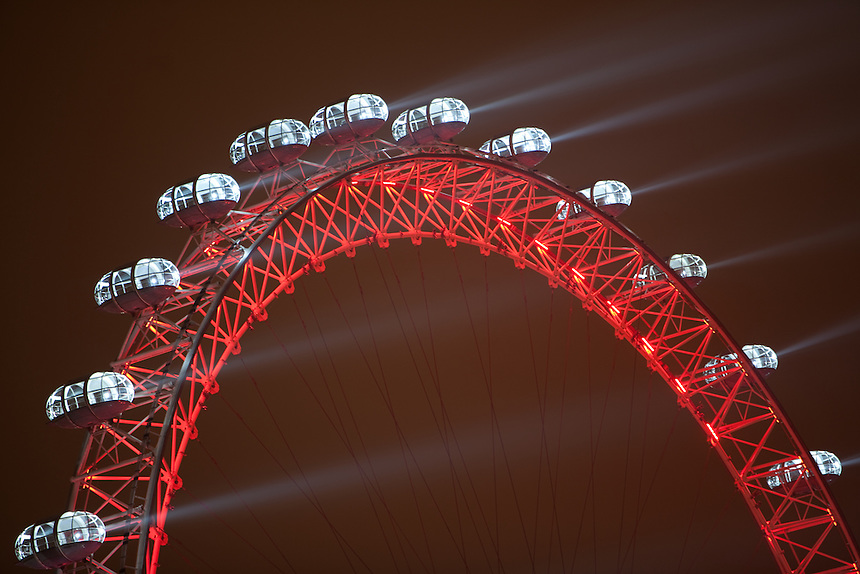 London Eye light show on New Years Eve