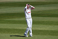 Frustration for Peter Siddle of Essex during Warwickshire CCC vs Essex CCC, LV Insurance County Championship Group 1 Cricket at Edgbaston Stadium on 25th April 2021