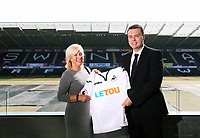 Pictured L-R: CHECK NAME and Paul Fox, CEO of Letou. Monday 19 June 2017<br />