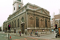 """Sir Christopher Wren: St. Lawrence Jewry 1670-87. """"The magnificent Corinthian east front, facing Guildhall Yard, is based on Wren's model design of St. Paul's"""""""