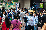 Tottenham Hotspurs' mascot Chirpy visits Hong Kong to welcome their new sponsor AIA on October 31, 2013 at different locations of Hong Kong in Hong Kong, China. Photo by Xaume Olleros / The Power of Sport Images