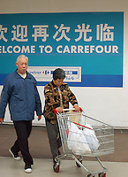 Carrefour depatment store in Guangzhou, China. The French retail chain has around a hundred outlets in mainland China. .02-FEB-05