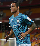 BRISBANE, AUSTRALIA - OCTOBER 30: Tim Cahill of Melbourne warms up before the round 5 Hyundai A-League match between the Brisbane Roar and Melbourne City at Suncorp Stadium on November 4, 2016 in Brisbane, Australia. (Photo by Patrick Kearney/Brisbane Roar)