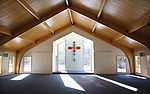 SOUTHBURY CT. 29 December 2017-122917SV04-Rev. Scott Nessel checks out the renovation and addition at St. James Church in Southbury Friday.<br /> Steven Valenti Republican-American