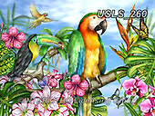 Lori, REALISTIC ANIMALS, REALISTISCHE TIERE, ANIMALES REALISTICOS, zeich, paintings+++++Parrot-dise,USLS260,#a#, EVERYDAY ,puzzle,puzzles