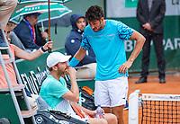 Paris, France, 01 June, 2018, Tennis, French Open, Roland Garros, Men's doubles: Matwe Middelkoop and Robin Haase (NED) (R)<br /> Photo: Henk Koster/tennisimages.com