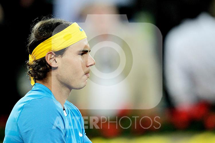 Rafael Nadal during Tennis Madrid Open match, May 13,2010..(ALFAQUI/Cesar Cebolla)