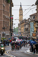 small 'breakaway peloton' rolling through the (famous) city of Parma<br /> <br /> 104th Giro d'Italia 2021 (2.UWT)<br /> Stage 4 from Piacenza to Sestola (187km)<br /> <br /> ©kramon