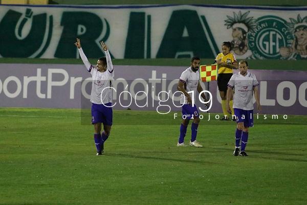 Campinas (SP), 18/08/2020 - Guarani - Paraná - Bruno Gomes comemora gol do Parana. Partida entre Guarani e Paraná pelo Campeonato Brasileiro 2020 da série B, nesta terça-feira (18), no Estádio Brinco de Ouro, em Campinas (SP).