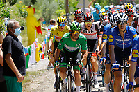 July 9th 2021. Carcassonne, Languedoc, France;   CAVENDISH Mark (GBR) of DECEUNINCK - QUICK-STEP, POGACAR Tadej (SLO) of UAE TEAM EMIRATES during stage 13 of the 108th edition of the 2021 Tour de France cycling race, a stage of 219,9 kms between Nimes and Carcassonne.