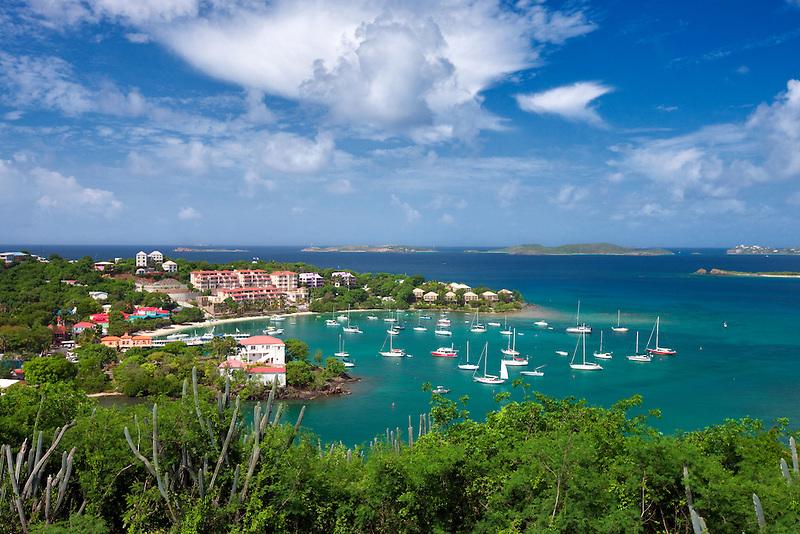 Cruz Bay Harbor. St. John. US Virgin Islands.