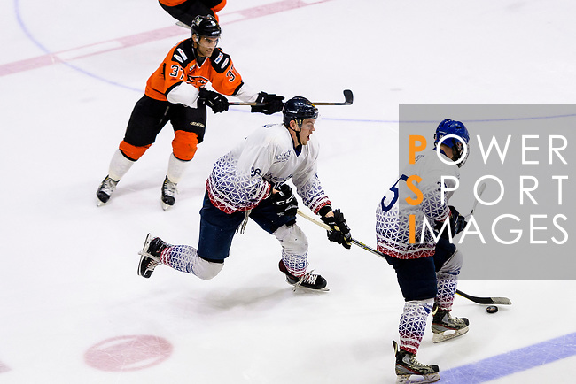HK Tigers and Flying French during the Mega Ice Hockey 5s International A Final match on May 05, 2018 in Hong Kong, Hong Kong. Photo by Marcio Rodrigo Machado / Power Sport Images