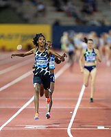 10th June 2021; Stadio Luigi Ridolfi, Florence, Tuscany, Italy; Muller Diamond League Grand Prix Athletics, Florence and Rome; Sifan Hassan (Neth) wins the women's 1500m race after beating Faith Kipyegon in the final lap