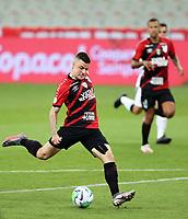 14th October 2020; Arena da Baixada, Curitiba, Brazil; Brazilian Serie A, Athletico Paranaense versus Corinthians;  Renato Kayser of Athletico Paranaense takes a shot on goal