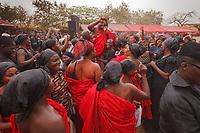 Africa, Ghana,Kumasi, Ashanti funeral