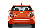 Straight rear view of a 2012 Chevrolet Sonic LT 5 Door