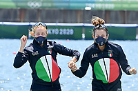 210729 -- TOKYO, July 29, 2021 -- Valentina Rodini L and Federica Cesarini of Italy attend the awarding ceremony of the Lightweight Women s Double Sculls at the Tokyo 2020 Olympic Games, Olympische Spiele, Olympia, OS in Tokyo, Japan, on July 29, 2021.  TOKYO2020XHTP-JAPAN-TOKYO-OLY-ROWING-LIGHTWEIGHT WOMEN S DOUBLE SCULLS GuoxChen PUBLICATIONxNOTxINxCHN <br /> Photo Imago  / Insidefoto ITALY ONLY
