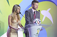 Costa do Sauípe, Bahia, Brazil - Friday, Dec 6, 2013: <br /> FIFA holds the World Cup 2014 draw in Brazil, at a coastal resort town of Costa do Sauípe in the State of Bahia. Brazilian actors Fernanda Lima and Rodrigo Hilbert host the draw for 32 teams who have qualified for the finals.
