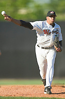 Winston-Salem relief pitcher Dewon Day fires the ball to the plate versus the Frederick Keys at Ernie Shore Field in Winston-Salem, NC, Thursday, June 15, 2006.  Winston-Salem defeated Frederick 1-0 in game 1 of a double-header.