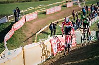 Christine Majerus (LUX/Boels Dolmans) leading the women's race<br /> <br /> Superprestige Ruddervoorde 2018 (BEL)