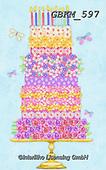 Kate, CHILDREN BOOKS, BIRTHDAY, GEBURTSTAG, CUMPLEAÑOS, paintings+++++Floral cake 3.,GBKM597,#bi#, EVERYDAY