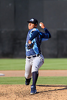West Michigan Whitecaps pitcher Keider Montero (12) delivers a pitch during a game against the Wisconsin Timber Rattlers on May 22, 2021 at Neuroscience Group Field at Fox Cities Stadium in Grand Chute, Wisconsin.  (Brad Krause/Four Seam Images)