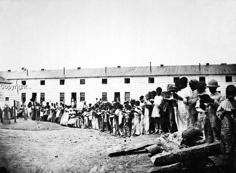 Contraband School, or Freedman's Village, Arlington, Va.  Mathew Brady Collection. (Army)<br /> Exact Date Shot Unknown<br /> NARA FILE #:  111-B-5240<br /> WAR & CONFLICT BOOK #:  112