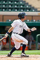 Alden Carrithers (12) of the Lakeland Flying Tigers during a game vs. the Ft. Myers Miracle June 6 2010 at Joker Marchant Stadium in Lakeland, Florida. Ft. Myers won the game against Lakeland by the score of 2-0.  Photo By Scott Jontes/Four Seam Images