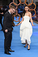 """Jonathan Schwartz and Fala Chen<br /> arriving for the """"Shang-Chi And The Legend Of The Ten Rings"""" premiere at Curzon Mayfair, London<br /> <br /> ©Ash Knotek  D3570  26/08/2021"""