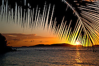Sunset from Frank Bay looking towards St Thomas<br /> St. John<br /> U.S. Virgin Islands