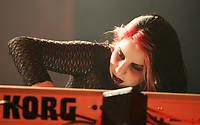 """Metal band Cradle of Filth keyboardist Ashley """"Ellyllon"""" Jurgemeyer performs during a  show at Le Capitole de Quebec January 27, 2007."""