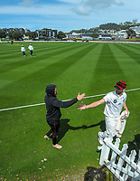 Daryl Mitchell walks in during day two of the Plunket Shield match between the Wellington Firebirds and Canterbury at Basin Reserve in Wellington, New Zealand on Tuesday, 20 October 2020. Photo: Dave Lintott / lintottphoto.co.nz