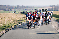 select group with some big hitters trying to catch the breakaway group that had been joined by none less than Mathieu Van der Poel<br /> <br /> 73rd Kuurne - Brussels - Kuurne 2021<br /> ME (1.Pro)<br /> 1 day race from Kuurne to Kuurne (BEL/197km)<br /> <br /> ©kramon