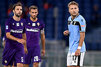 Ciro Immobile of SS Lazio reacts during the Serie A football match between SS Lazio and ACF Fiorentina at stadio Olimpico in Roma ( Italy ), June 27th, 2020. Play resumes behind closed doors following the outbreak of the coronavirus disease. Photo Antonietta Baldassarre / Insidefoto