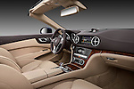 Straight dashboard view of a 2013 Mercedes SL Class .