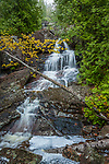 A spring waterfall near Bubble Pond in Acadia National Park, Downeast, ME, USA