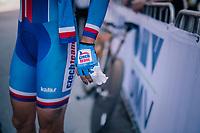 post-finish medical attention for Tereza Korvasova (CZE)<br /> <br /> WOMEN ELITE INDIVIDUAL TIME TRIAL<br /> Hall-Wattens to Innsbruck: 27.8 km<br /> <br /> UCI 2018 Road World Championships<br /> Innsbruck - Tirol / Austria