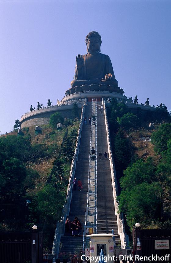 großer Buddha, Po Lin-Kloster, Po Lin-Kloster, Hongkong-Lantau, China