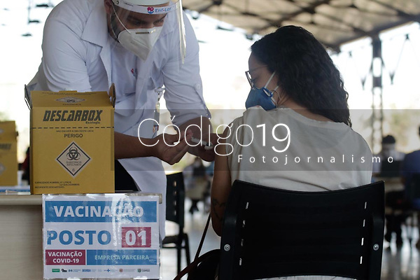 Campinas (SP), 20/08/2021 - Vacina Covid-19 - Movimentação no CIS Guanabara, nesta sexta-feira (20), um dos centros de imunização contra a Covid-19 na cidade de Campinas (SP).