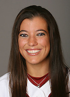 STANFORD, CA - NOVEMBER 3:  Erikka Moreno of the Stanford Cardinal softball team poses for a headshot on November 3, 2008 in Stanford, California.