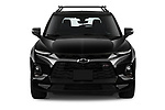 Car photography straight front view of a 2020 Chevrolet Blazer RS 5 Door SUV Front View