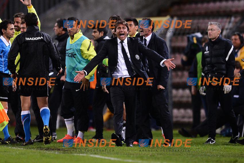 "Juventus Campione d'Italia.Esultanza Antonio Conte.Trieste 06/05/2012 Stadio ""Nereo Rocco"".Football Calcio 2011/2012 Serie A.Cagliari Vs Juventus.Foto Insidefoto Andrea Staccioli"