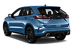 Car pictures of rear three quarter view of a 2019 Ford Edge ST 5 Door SUV angular rear