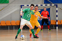 Adam Burrowes of Central during the Men's Futsal SuperLeague, Central Futsal v Southern United Futsal at ASB Sports Centre, Wellington on Saturday 31 October 2020.<br /> Copyright photo: Masanori Udagawa /  www.photosport.nz