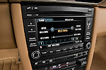 Stereo audio system close up detail view of a 2009 Porsche Carrera Coupe S