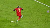 2nd July 2021; Allianz Arena, Munich, Germany; European Football Championships, Euro 2020 quarterfinals, Belgium versus Italy;  Belgian forward Romelu Lukaku   preparing to take a penalty kick  which made it 1-2